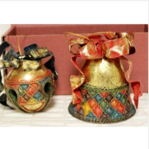 Department 56 Set of 2 Bell Christmas Ornaments Sl